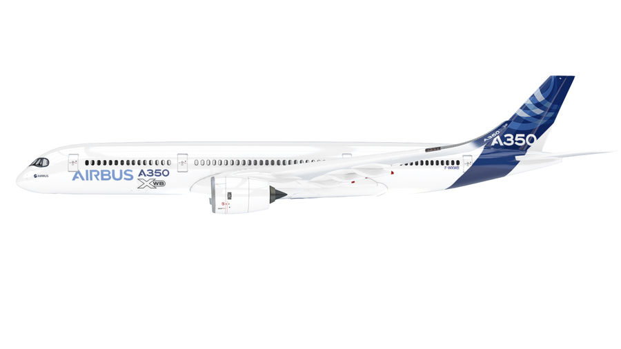 A350 Airbus Zniżka cenowa. royalty-free 3d model - Preview no. 4
