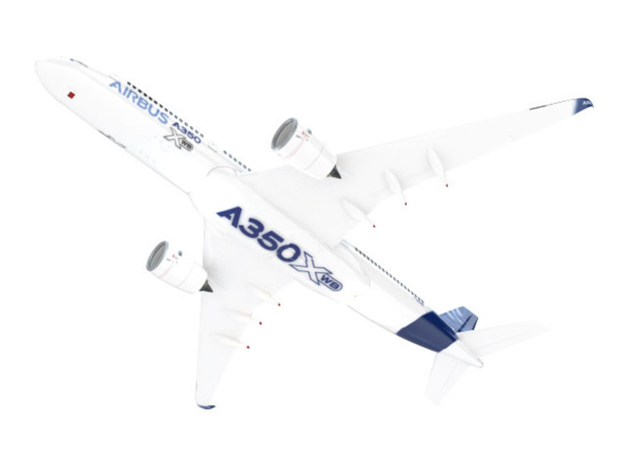 A350 Airbus Zniżka cenowa. royalty-free 3d model - Preview no. 5