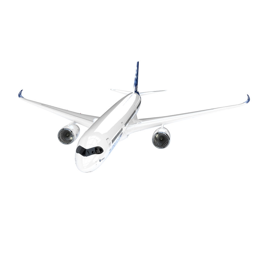 A350 Airbus Zniżka cenowa. royalty-free 3d model - Preview no. 1