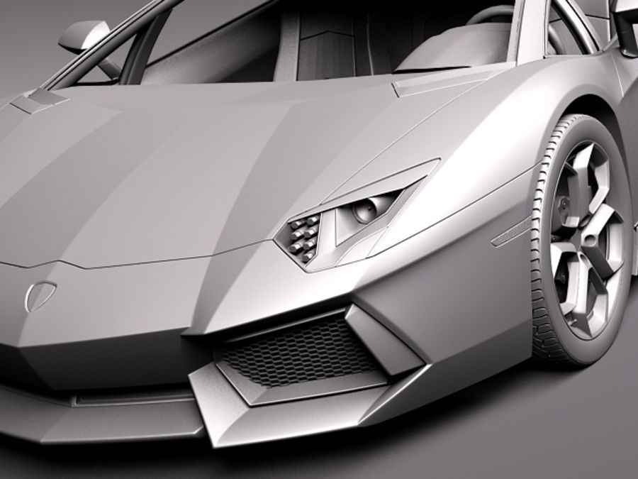 Lamborghini Aventador LP700-4 2015 royalty-free 3d model - Preview no. 15