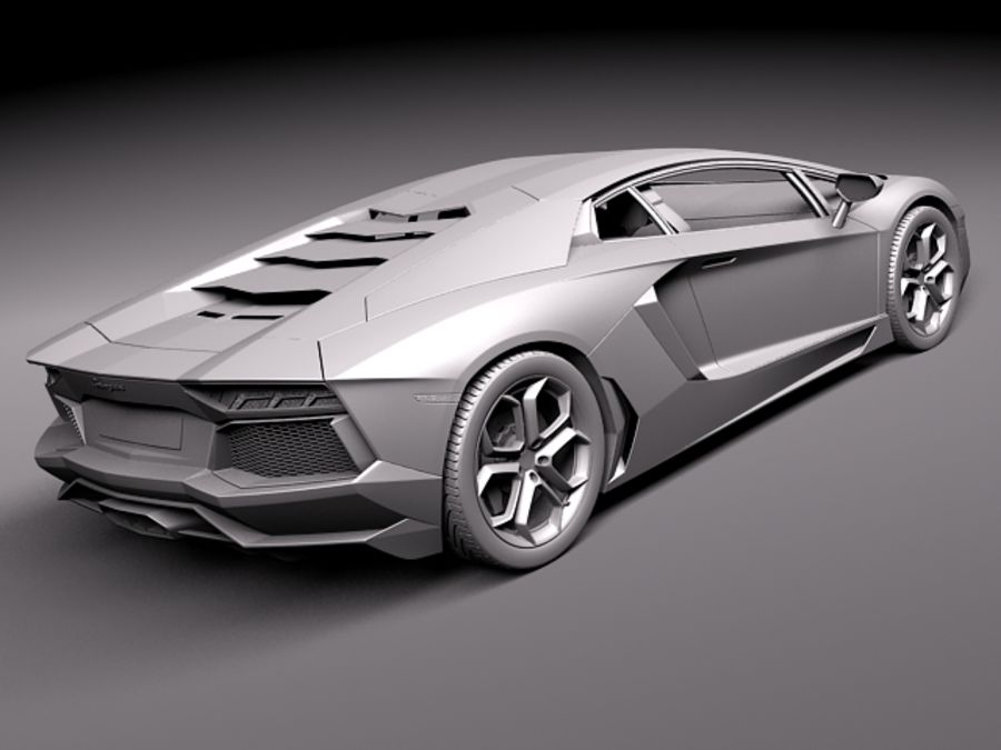 Lamborghini Aventador LP700-4 2015 royalty-free 3d model - Preview no. 13