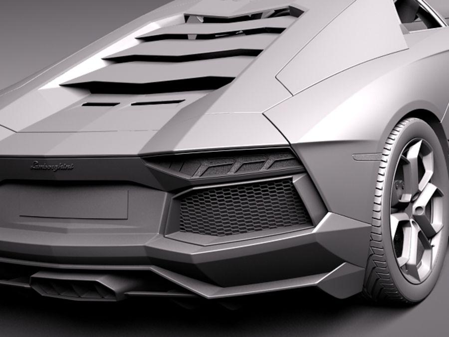Lamborghini Aventador LP700-4 2015 royalty-free 3d model - Preview no. 14