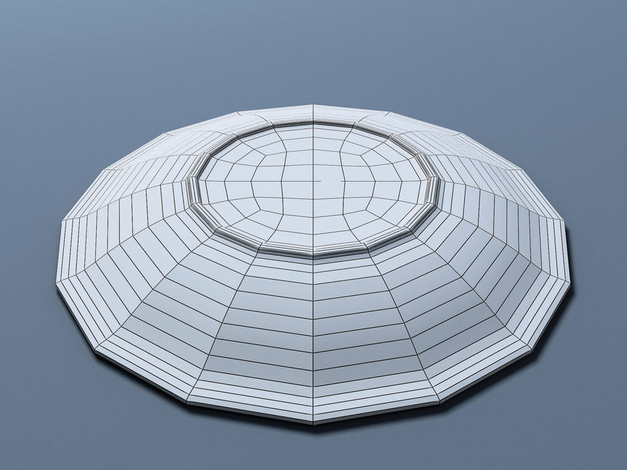 Plate B royalty-free 3d model - Preview no. 10