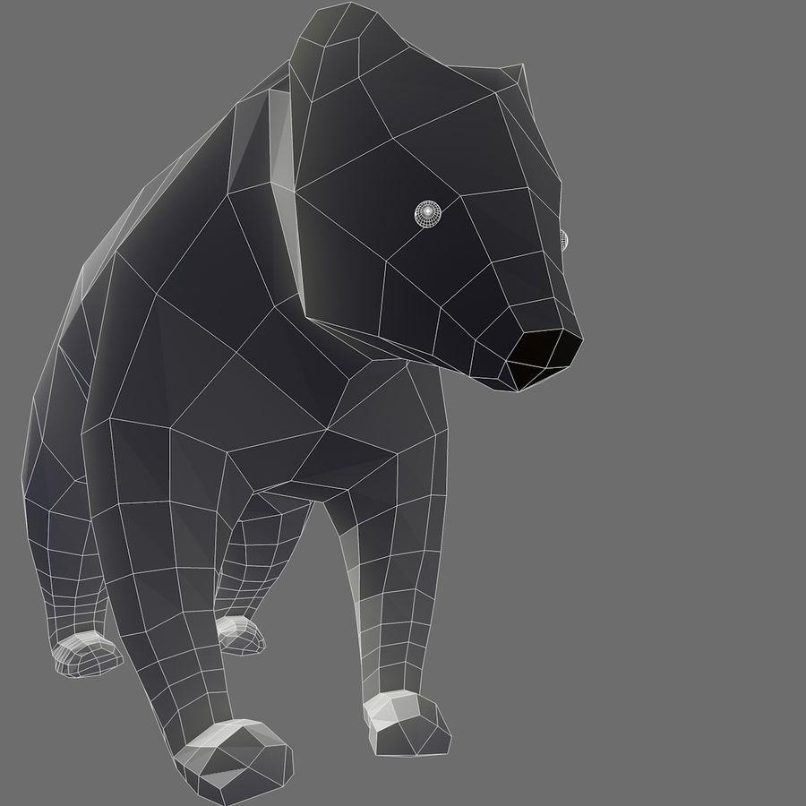 Mishka Düşük Poli Bear royalty-free 3d model - Preview no. 7