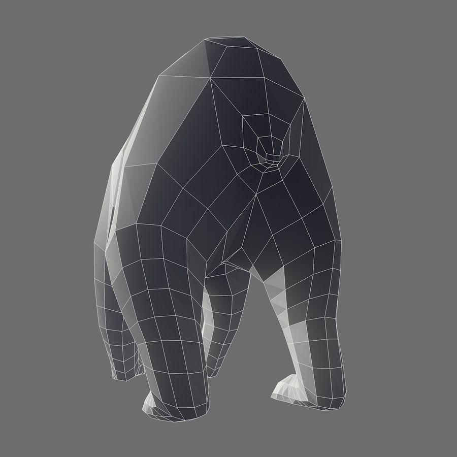 Mishka Düşük Poli Bear royalty-free 3d model - Preview no. 9