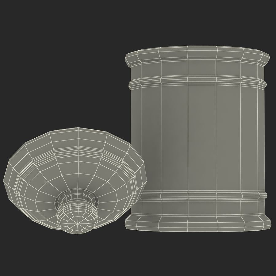 sugar bowl royalty-free 3d model - Preview no. 24