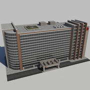 Hospital Business City Building AA2 3d model