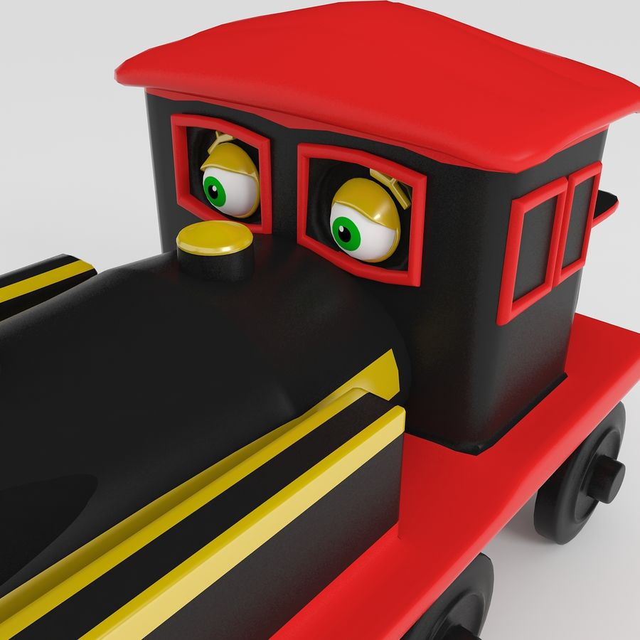 Toy Locomotive royalty-free 3d model - Preview no. 5