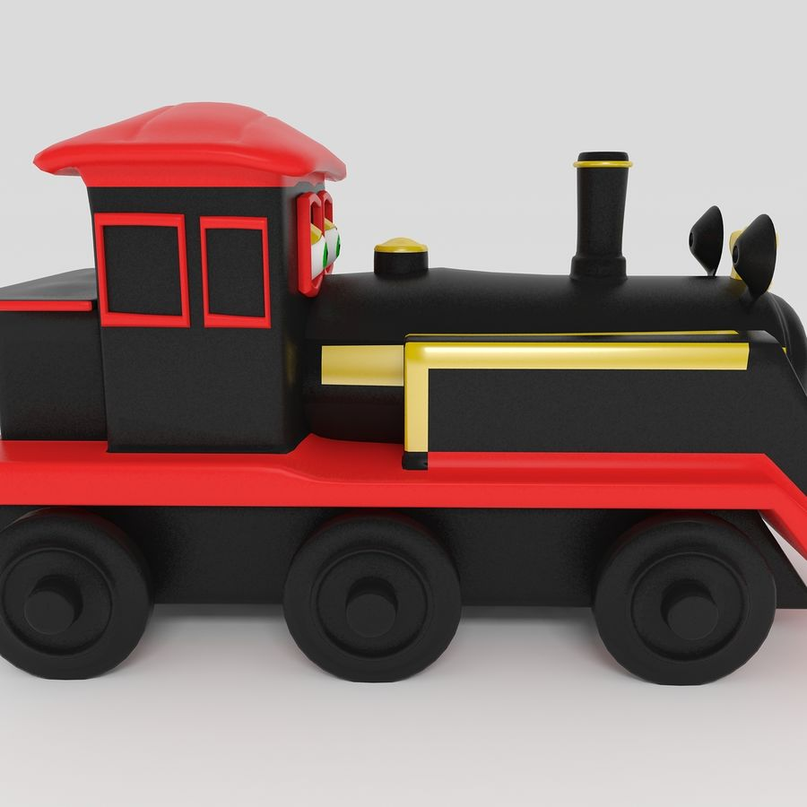Toy Locomotive royalty-free 3d model - Preview no. 6