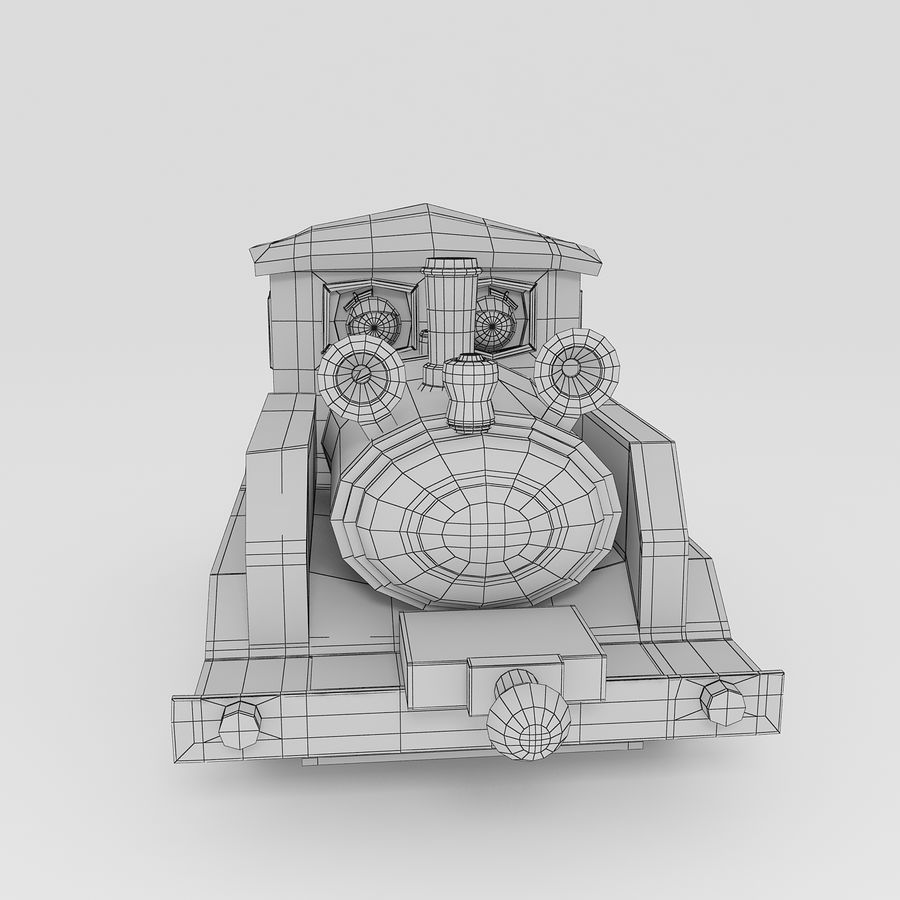 Toy Locomotive royalty-free 3d model - Preview no. 10