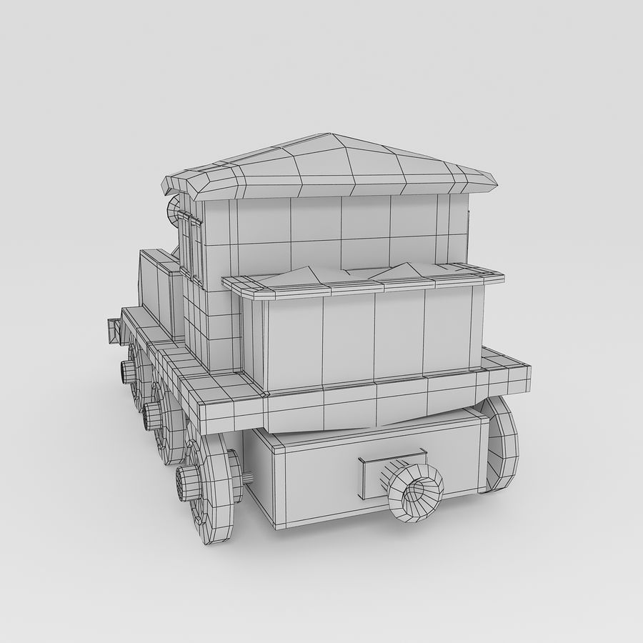 Toy Locomotive royalty-free 3d model - Preview no. 9