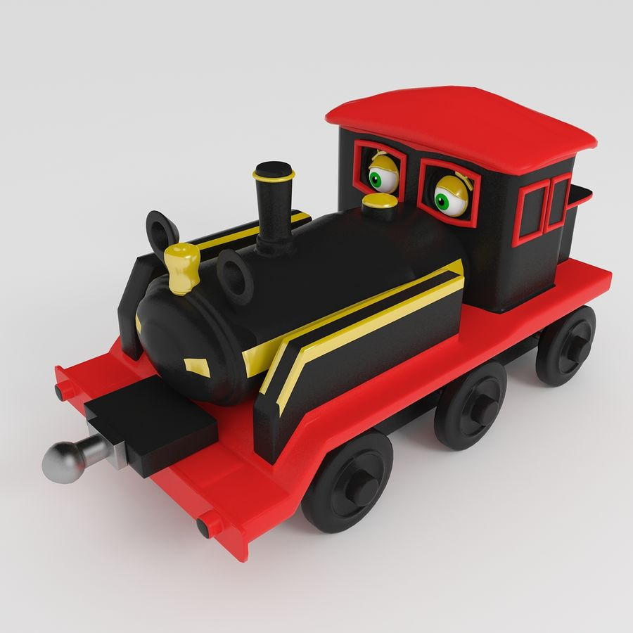 Toy Locomotive royalty-free 3d model - Preview no. 1