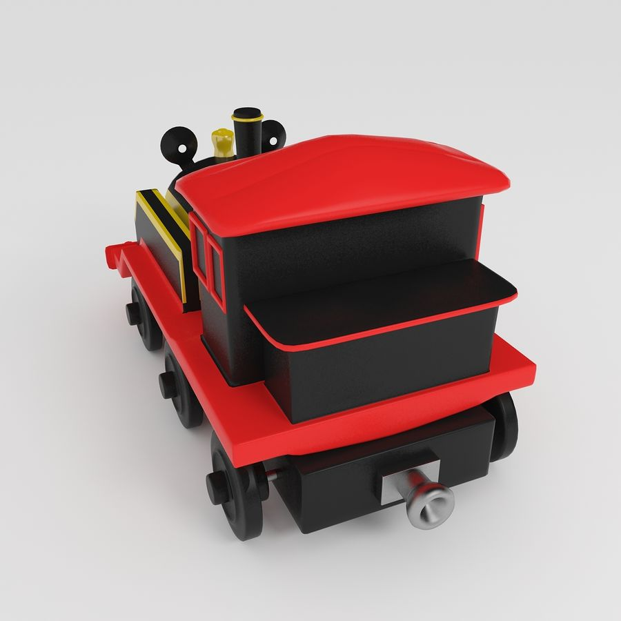 Toy Locomotive royalty-free 3d model - Preview no. 4
