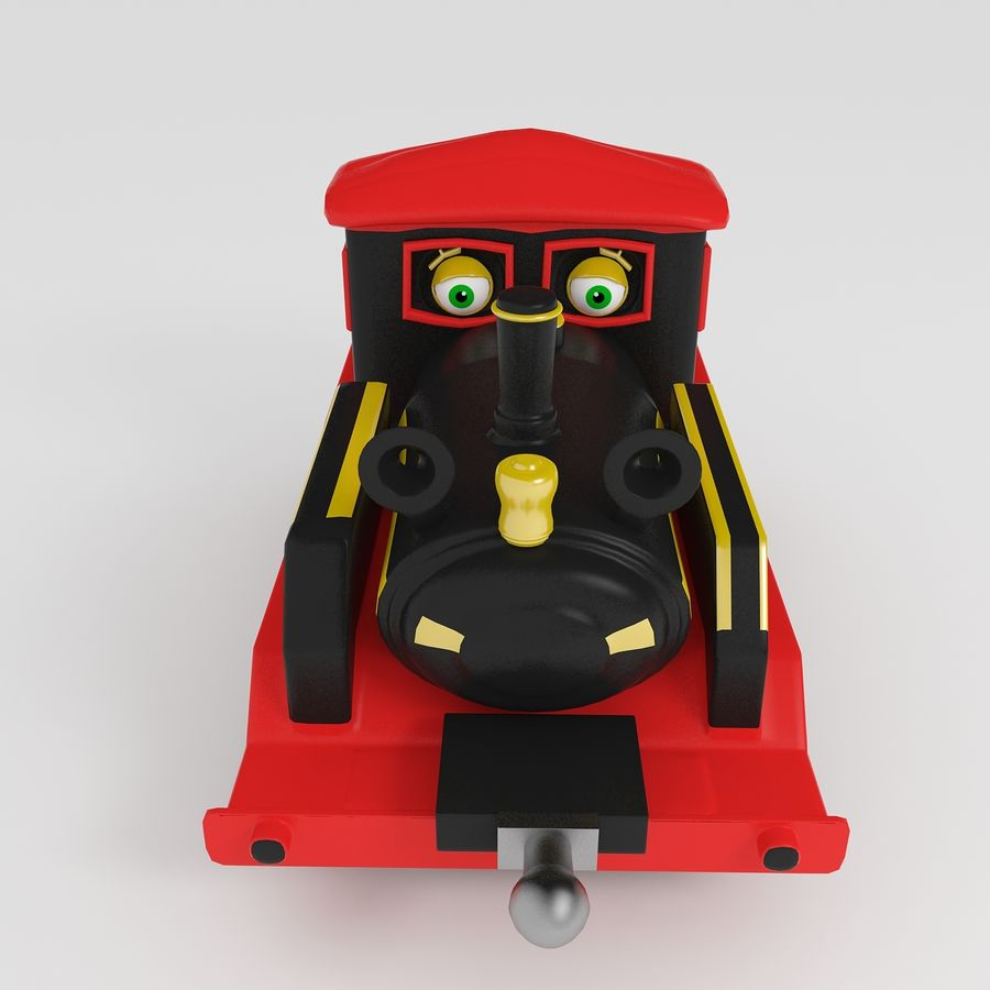 Toy Locomotive royalty-free 3d model - Preview no. 2
