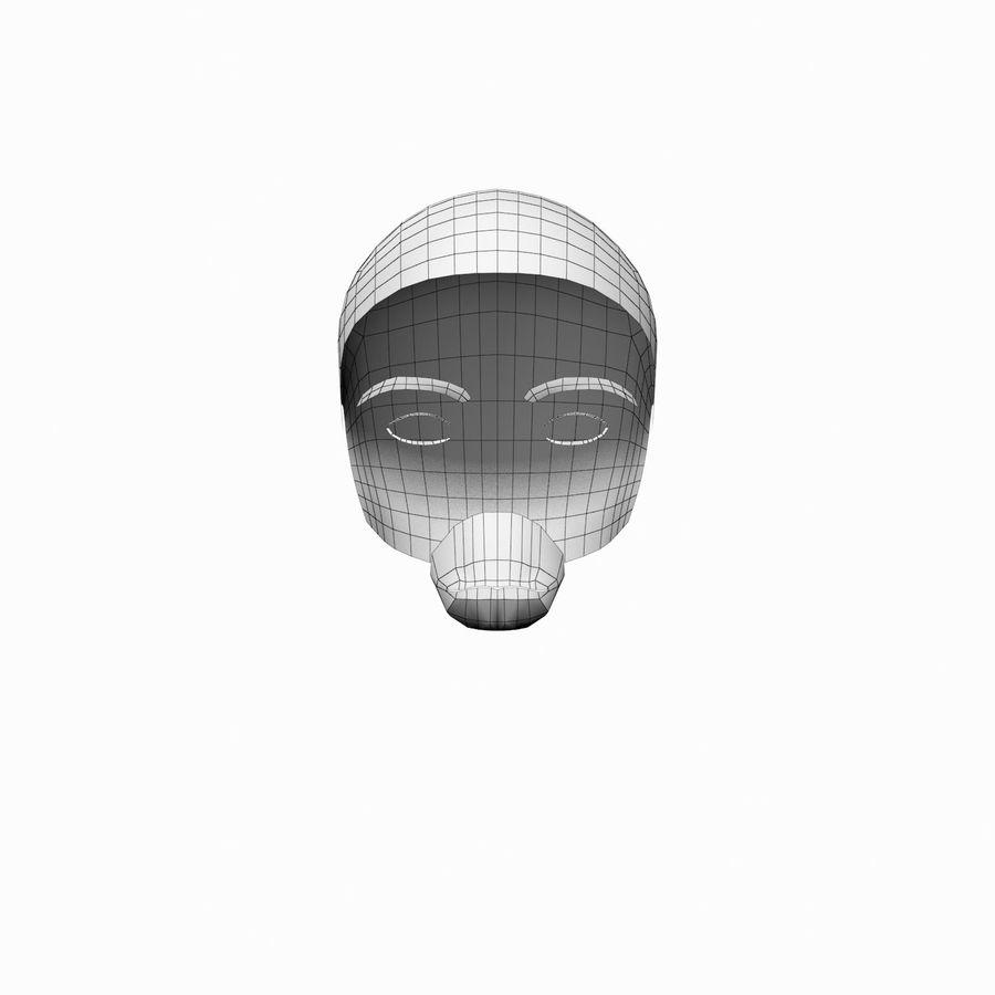 理发女性001 royalty-free 3d model - Preview no. 5