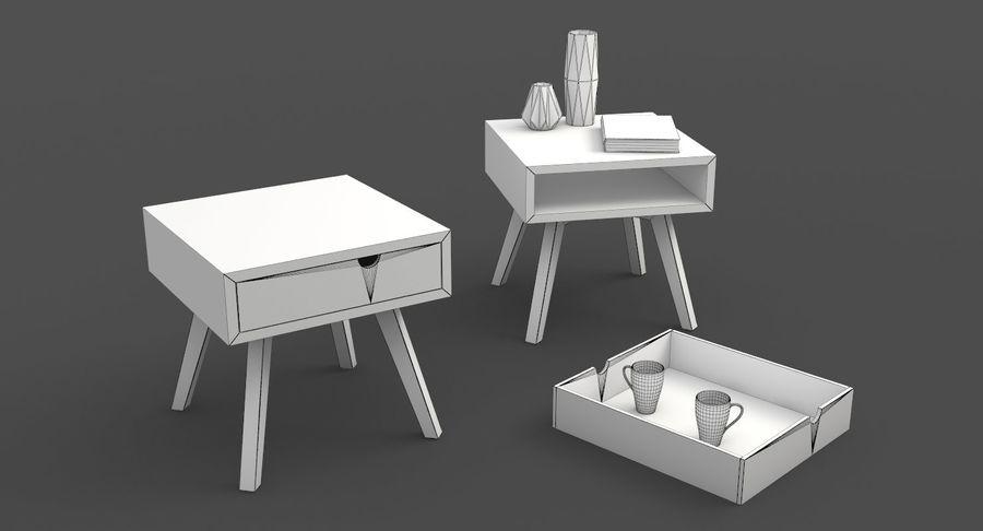 table de chevet royalty-free 3d model - Preview no. 7