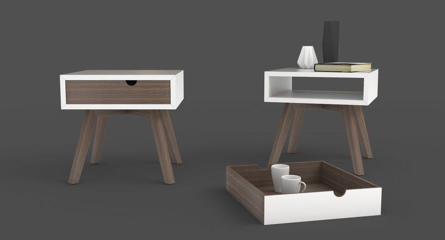 mesa de cabeceira royalty-free 3d model - Preview no. 3