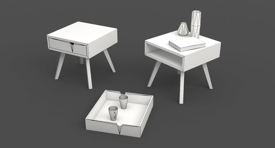 mesa de cabeceira royalty-free 3d model - Preview no. 9