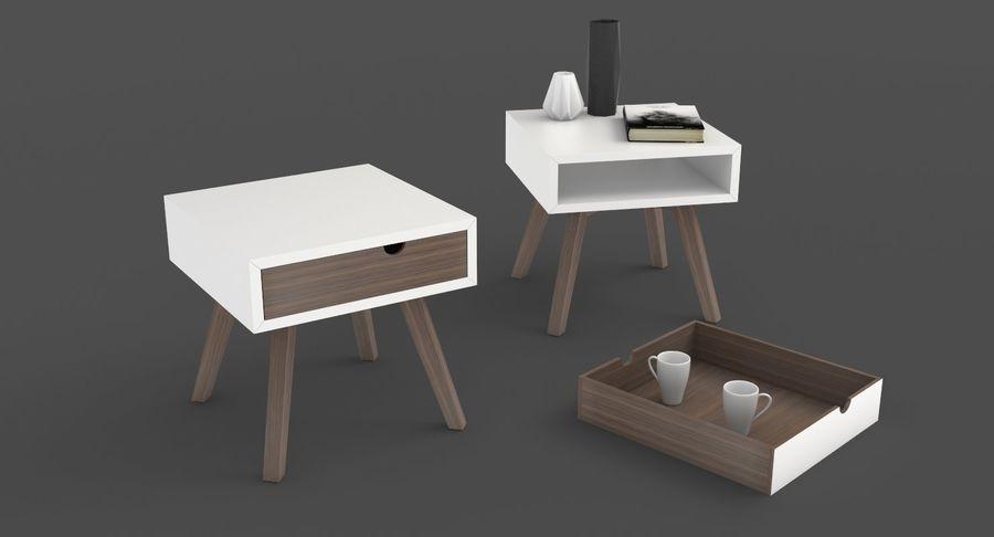 table de chevet royalty-free 3d model - Preview no. 2