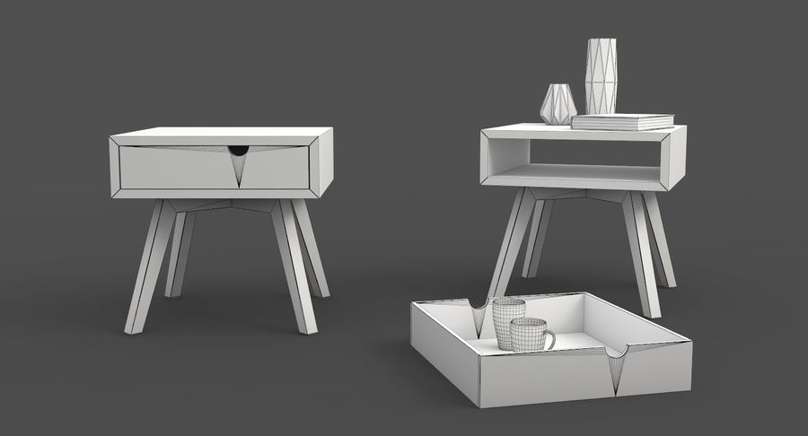 table de chevet royalty-free 3d model - Preview no. 8
