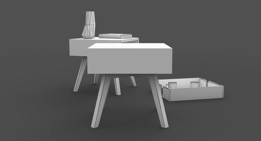 table de chevet royalty-free 3d model - Preview no. 10