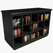 Modern Bookcase With Books 3d model