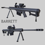 Barrett M107 (low-poly) 3d model