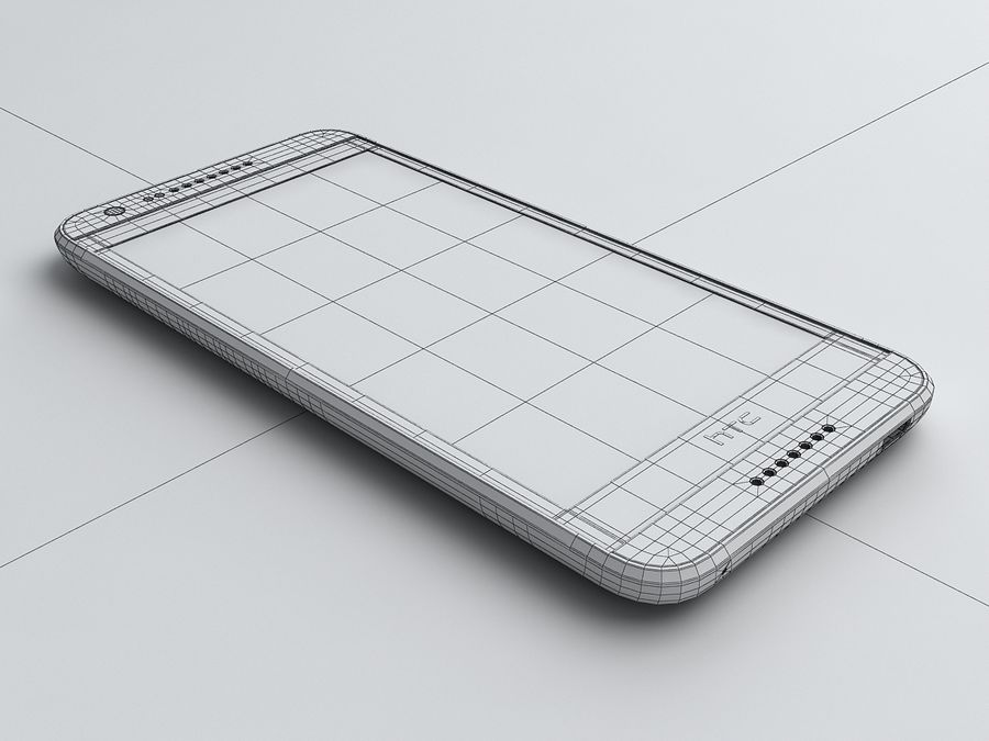 HTC Desire 620 royalty-free 3d model - Preview no. 16