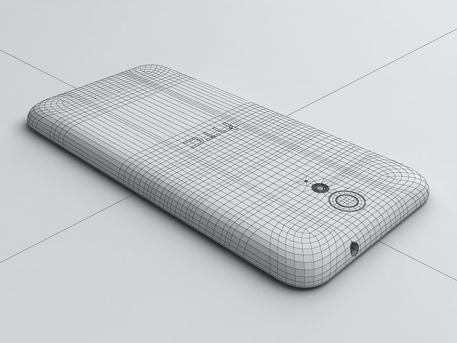 HTC Desire 620 royalty-free 3d model - Preview no. 17