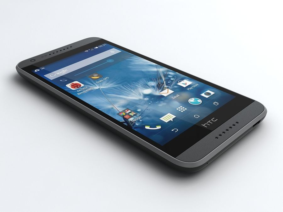 HTC Desire 620 royalty-free 3d model - Preview no. 1
