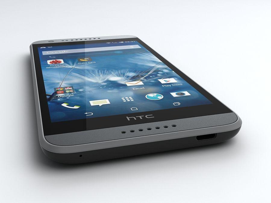 HTC Desire 620 royalty-free 3d model - Preview no. 5