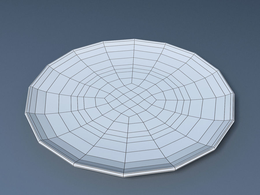 Plate C royalty-free 3d model - Preview no. 9