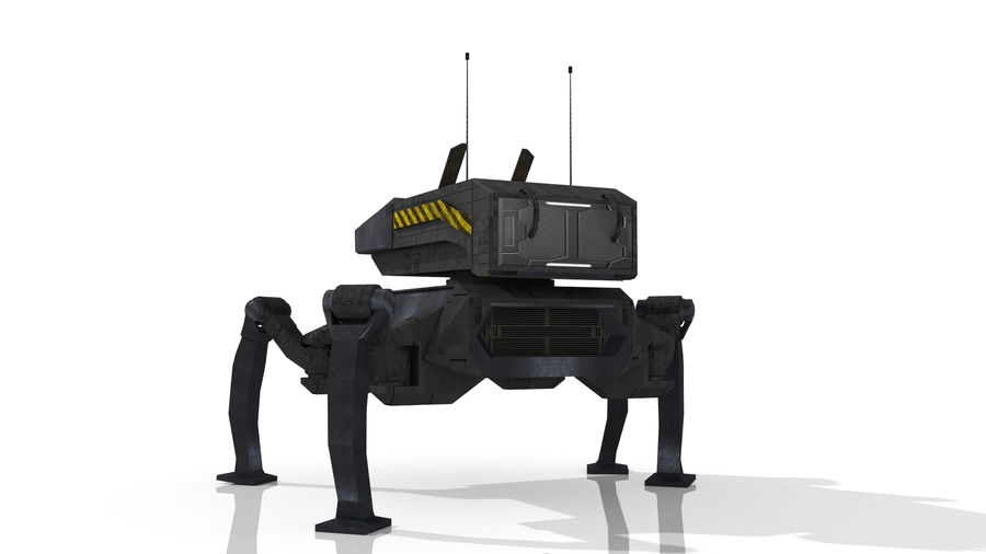 Sci-Fi Spider royalty-free 3d model - Preview no. 2