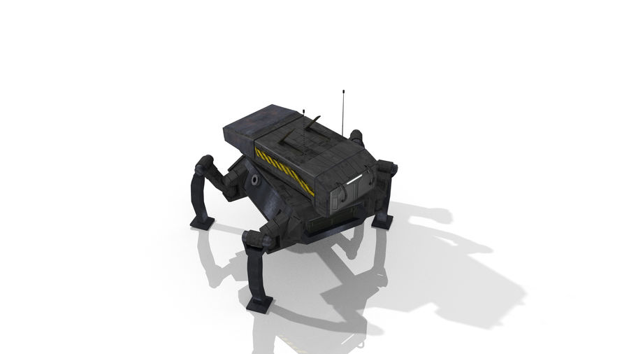 Sci-Fi Spider royalty-free 3d model - Preview no. 9