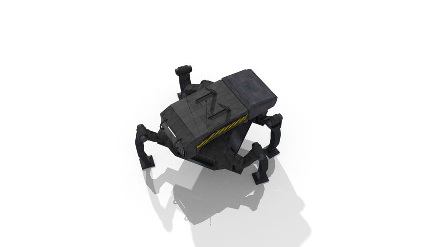 Sci-Fi Spider royalty-free 3d model - Preview no. 8