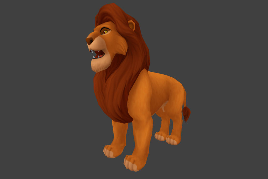 Simba Cartoon Löwe royalty-free 3d model - Preview no. 1