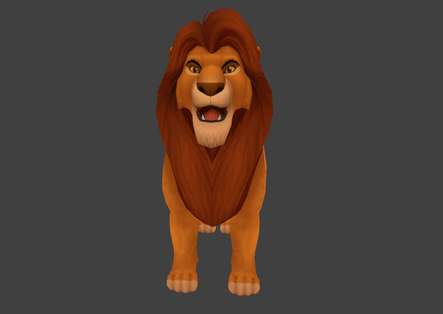 Simba Cartoon Löwe royalty-free 3d model - Preview no. 3