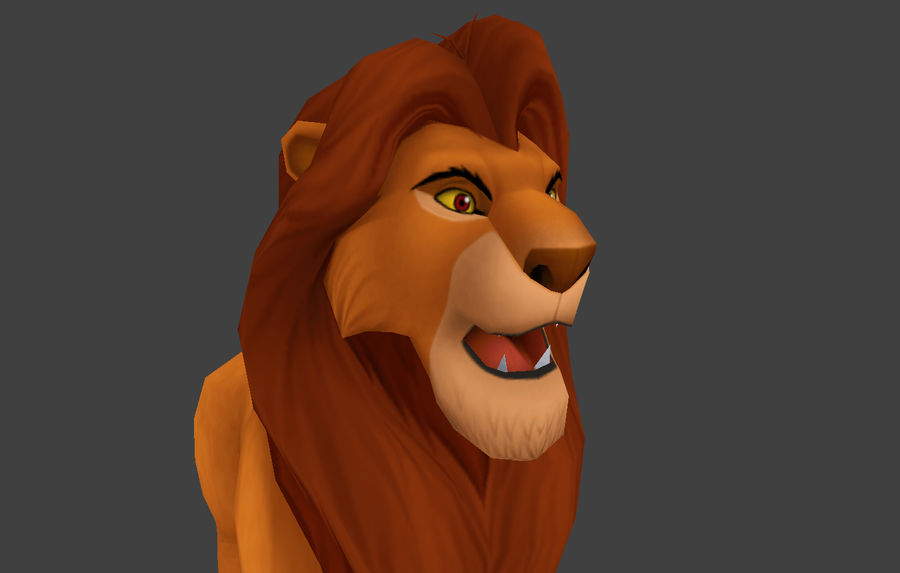 Simba Cartoon Löwe royalty-free 3d model - Preview no. 8