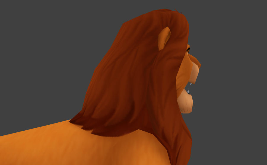 Simba Cartoon Löwe royalty-free 3d model - Preview no. 7