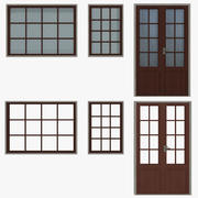 Windows Doors Type 1 Low Poly 3d model