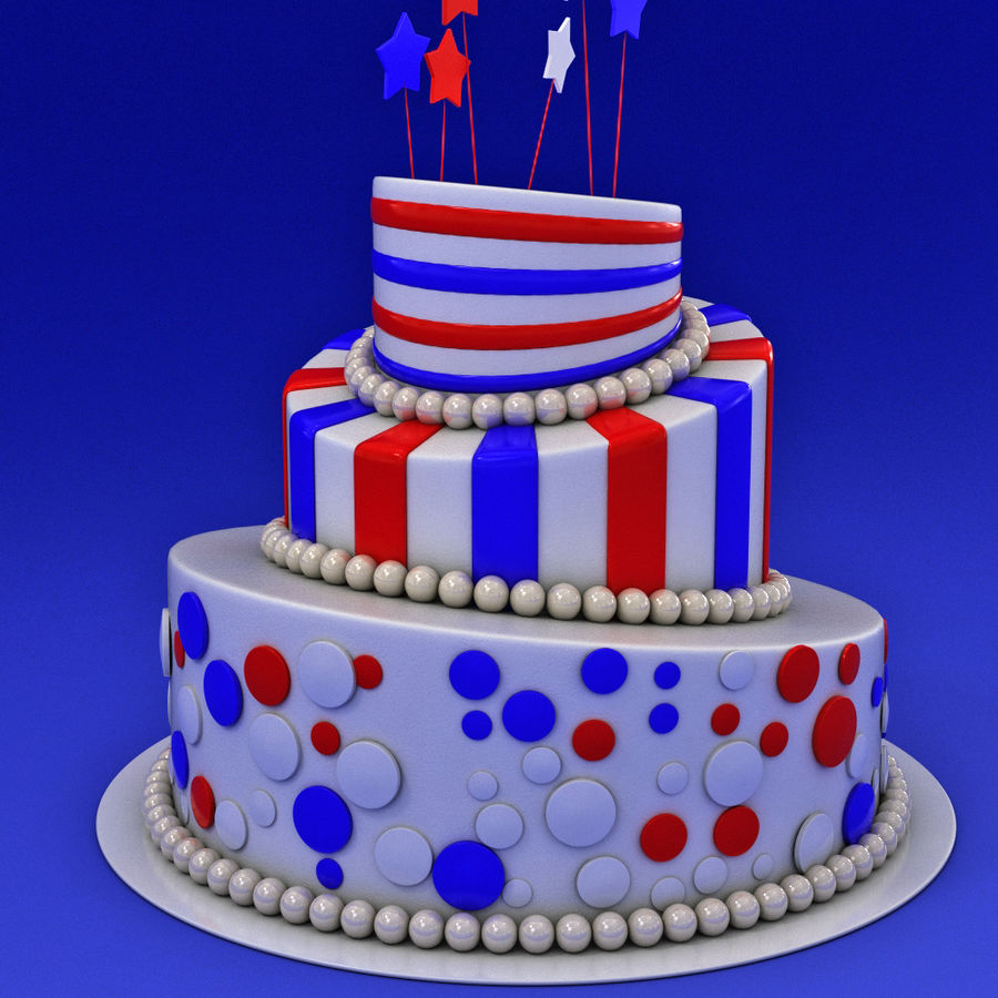Party Cake royalty-free 3d model - Preview no. 4