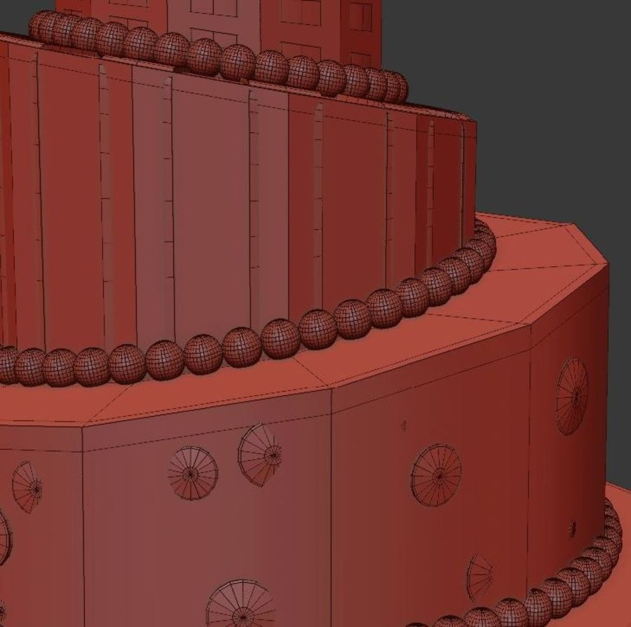 Party Cake royalty-free 3d model - Preview no. 7
