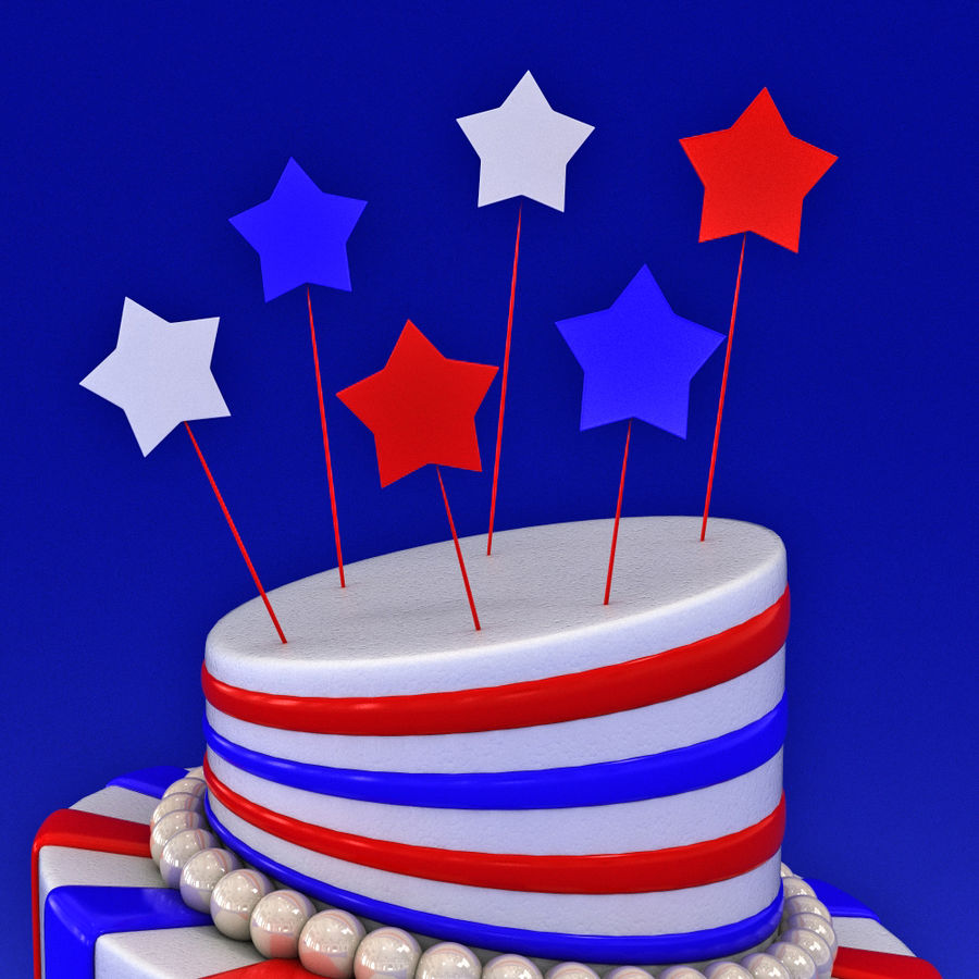 Party Cake royalty-free 3d model - Preview no. 2
