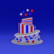Gâteau de fête 3d model