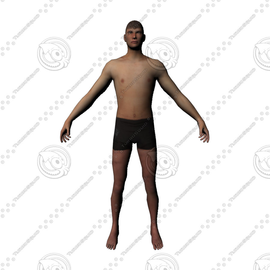 Hombre personaje royalty-free modelo 3d - Preview no. 1