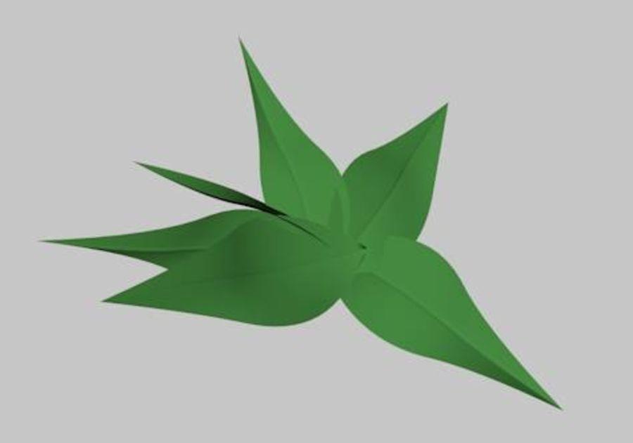 낮은 폴리 식물 잔디 royalty-free 3d model - Preview no. 3