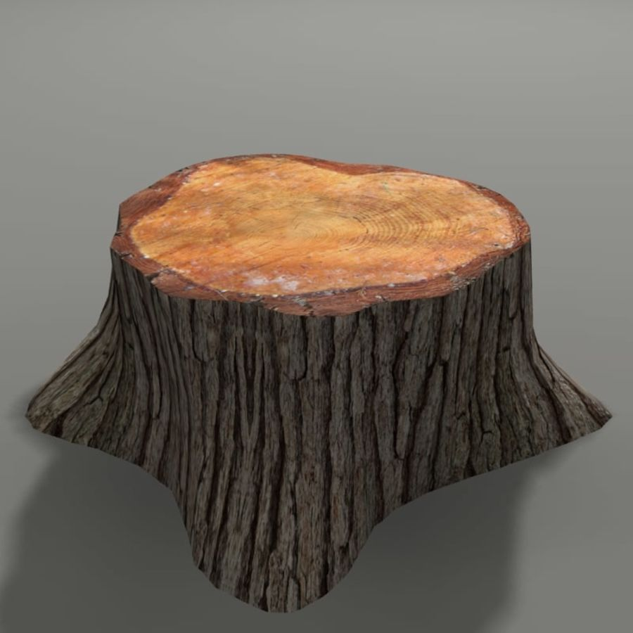 Tree Stump royalty-free 3d model - Preview no. 3