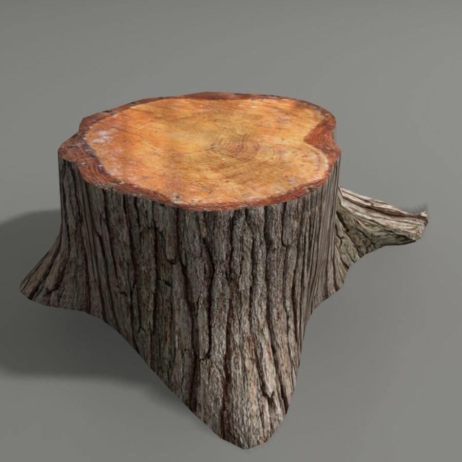 Tree Stump royalty-free 3d model - Preview no. 4