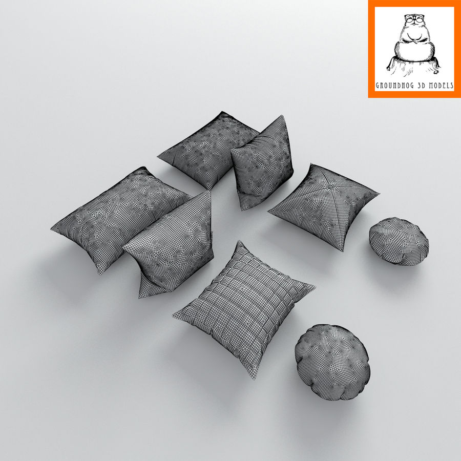 Groundhod 3D-modellen | kussens royalty-free 3d model - Preview no. 5