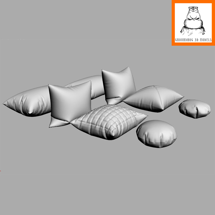 Groundhod 3D-modellen | kussens royalty-free 3d model - Preview no. 6